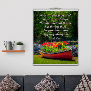 Wall Hanging - Irish Friendship Blessing Wall Hanging Moods of Ireland 12x16 inch White