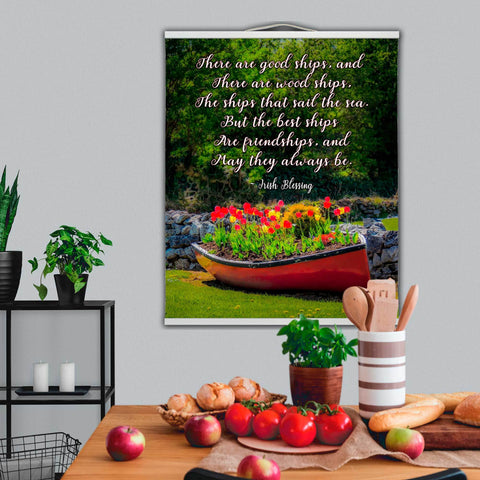 Image of Wall Hanging - Irish Friendship Blessing - James A. Truett - Moods of Ireland - Irish Art