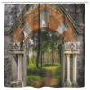Shower Curtain - Portal to Portumna Forest, County Galway Shower Curtains teelaunch Shower Curtain