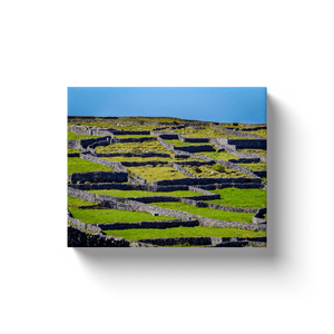 Canvas Wrap - Criss-crossed Rock Walls of Inisheer, Aran Islands, County Galway - James A. Truett - Moods of Ireland - Irish Art
