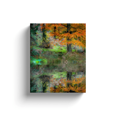 Image of Canvas Wrap - Autumn Reflections in the Irish Countryside Canvas Wrap Moods of Ireland 8x10 inch