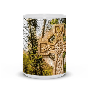 Ceramic Mug - Celtic Cross at Dysert O'dea Graveyard, County Clare - James A. Truett - Moods of Ireland - Irish Art