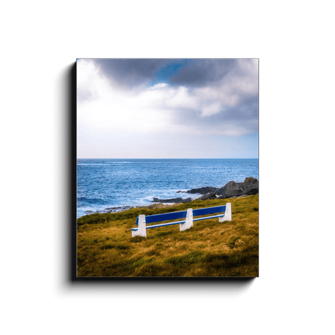 Image of Canvas Wrap - Kilkee Bench along Wild Atlantic, County Clare - James A. Truett - Moods of Ireland - Irish Art