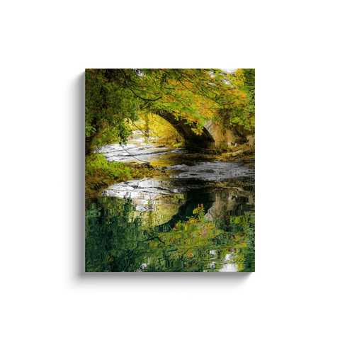 Image of Canvas Wrap - Reflections at Clondegad Bridge, County Clare - James A. Truett - Moods of Ireland - Irish Art