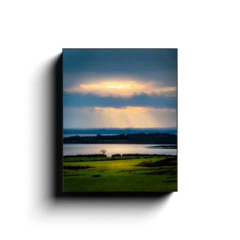 Canvas Wrap - Morning Sun Rays over Shannon Estuary, County Clare - James A. Truett - Moods of Ireland - Irish Art