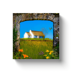 Canvas Wrap - Thatched Cottage on a Hill, County Clare - James A. Truett - Moods of Ireland - Irish Art