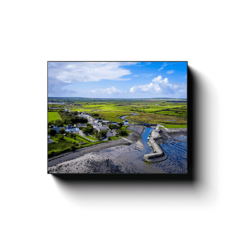 Image of Canvas Wrap - Carrigaholt Village, Moyarta, County Clare - James A. Truett - Moods of Ireland - Irish Art