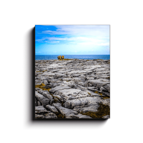 Image of Canvas Wrap - Rocky Burren Coast of County Clare - James A. Truett - Moods of Ireland - Irish Art