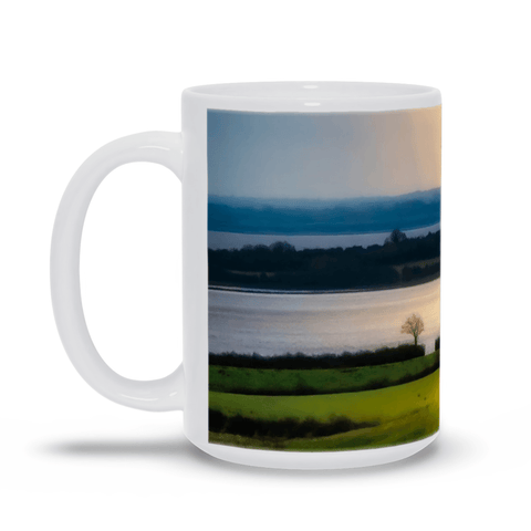 Image of Ceramic Mug - Morning Sun Rays over Shannon Estuary, County Clare - James A. Truett - Moods of Ireland - Irish Art
