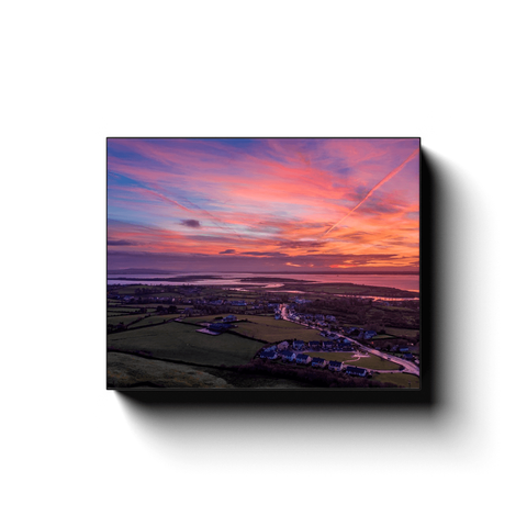 Canvas Wrap - Autumn Dawn over Kildysart, County Clare - James A. Truett - Moods of Ireland - Irish Art