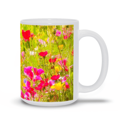 Ceramic Mug - Wildflower Chorus Serenading the Sun, County Clare - James A. Truett - Moods of Ireland - Irish Art