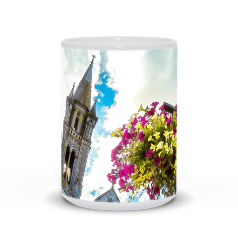 Image of Ceramic Mug - Steeple at Holy Cross Cathedral, Charleville, County Cork - James A. Truett - Moods of Ireland - Irish Art