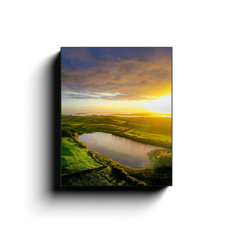 Canvas Wrap - Autumn Sunrise over Ballylean Lake, Kildysart, County Clare - James A. Truett - Moods of Ireland - Irish Art