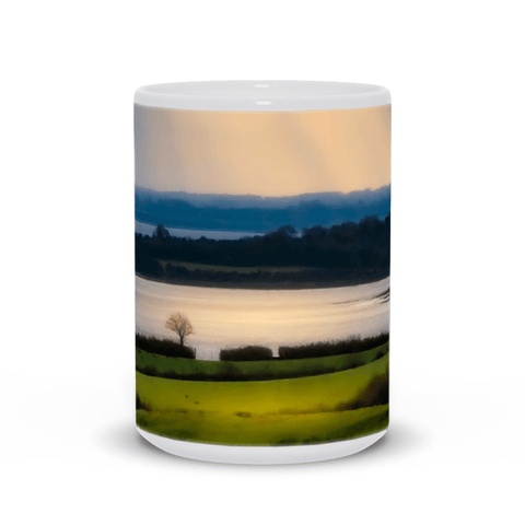 Ceramic Mug - Morning Sun Rays over Shannon Estuary, County Clare - James A. Truett - Moods of Ireland - Irish Art