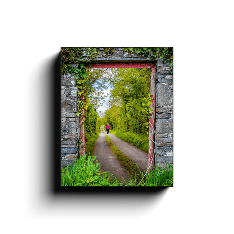 Image of Canvas Wrap - Portal to County Clare Country Road - James A. Truett - Moods of Ireland - Irish Art