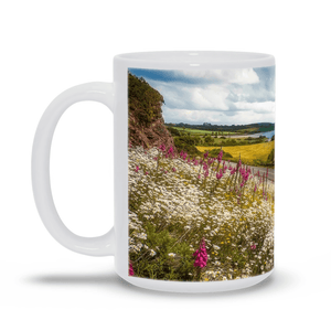 Ceramic Mug - Field of blooms along Shannon Estuary, County Clare - James A. Truett - Moods of Ireland - Irish Art
