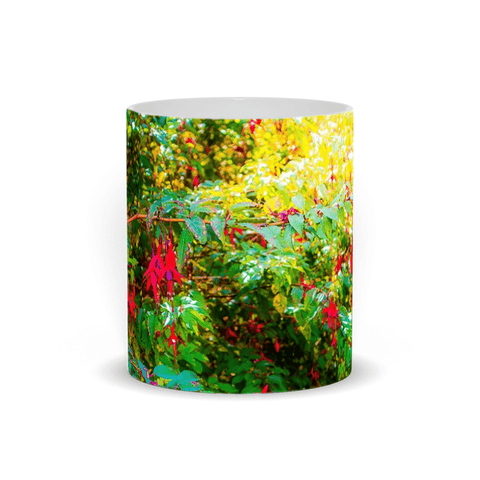 Ceramic Mug - Wild Fuchsias Frollicking in the County Clare Countryside - James A. Truett - Moods of Ireland - Irish Art