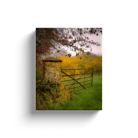 Canvas Wrap - Gate to Misty Irish Autumn in County Clare Canvas Wrap Moods of Ireland 8x10 inch