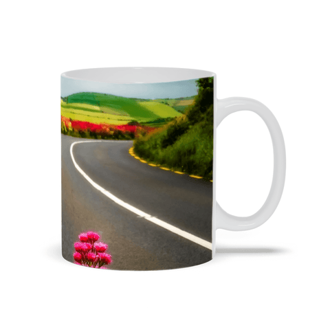 Image of Ceramic Mug - County Clare Summer Country Road - James A. Truett - Moods of Ireland - Irish Art
