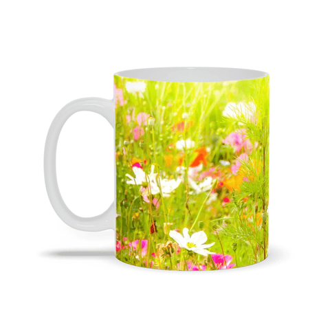 Image of Ceramic Mug - Wildflower Chorus Serenading the Sun, County Clare - James A. Truett - Moods of Ireland - Irish Art