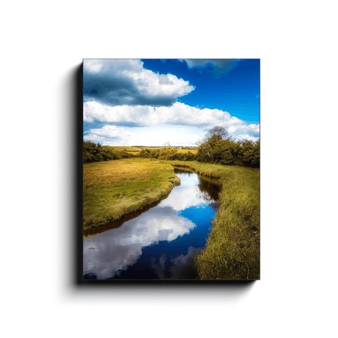 Canvas Wrap - Tranquil Winding Brook, County Clare - James A. Truett - Moods of Ireland - Irish Art