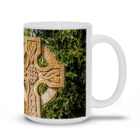 Image of Ceramic Mug - Celtic Cross at Dysert O'dea Graveyard, County Clare - James A. Truett - Moods of Ireland - Irish Art