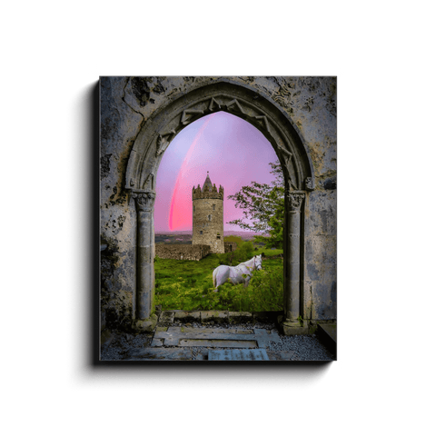 Image of Canvas Wrap - Medieval Castle in the County Clare Countryside - James A. Truett - Moods of Ireland - Irish Art
