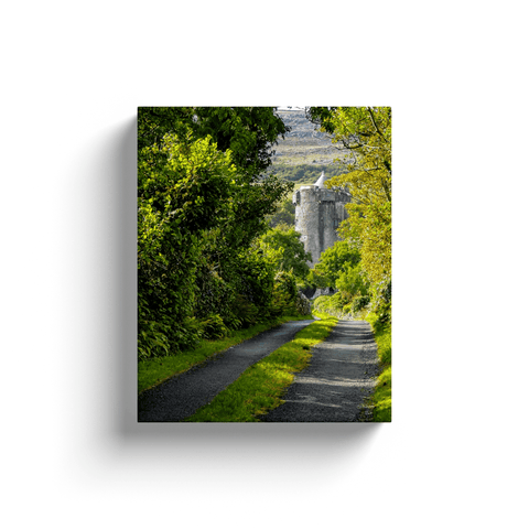 Image of Canvas Wrap - Path to Newtown Castle, County Clare - James A. Truett - Moods of Ireland - Irish Art