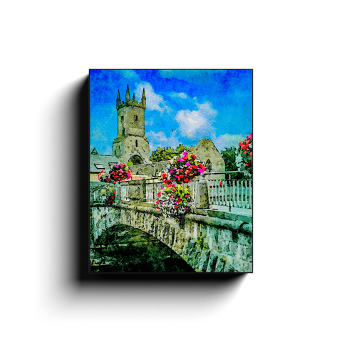 Image of Canvas Wrap - Ennis Friary in Summer - James A. Truett - Moods of Ireland - Irish Art