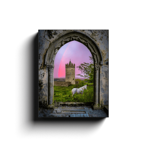 Canvas Wrap - Medieval Castle in the County Clare Countryside - James A. Truett - Moods of Ireland - Irish Art