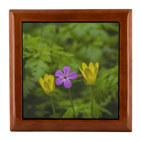 Jewelry Box - Irish Spring Wildflowers Jewelry Box teelaunch Golden Oak