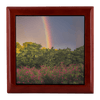 Jewelry Box - Irish Rainbow and Wildflowers in County Clare Jewelry Box teelaunch Red Mahogany