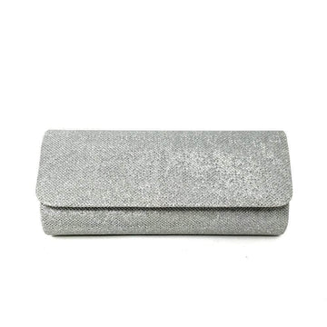 Glitter diamante evening clutch bag