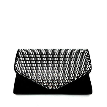 Aubree multi coloured stones diamante clutch
