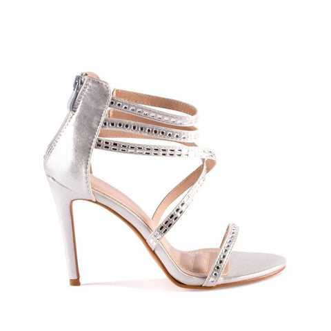 Desiree Diamante Criss Cross Strappy Sandal