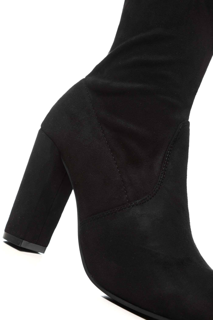 Cinda block heel slim over knee boot