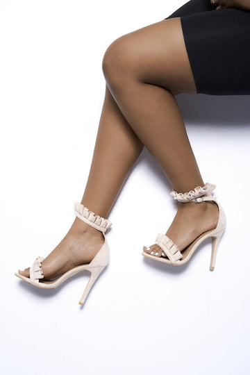 Daisy Frill Anklestrap Sandal in Nude