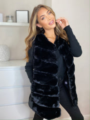Faux Fur Gillet in Black