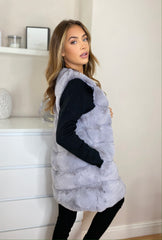Faux Fur Gillet in Grey