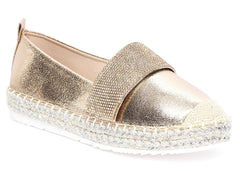 Lucky Diamante Band Espadrille in Champagne