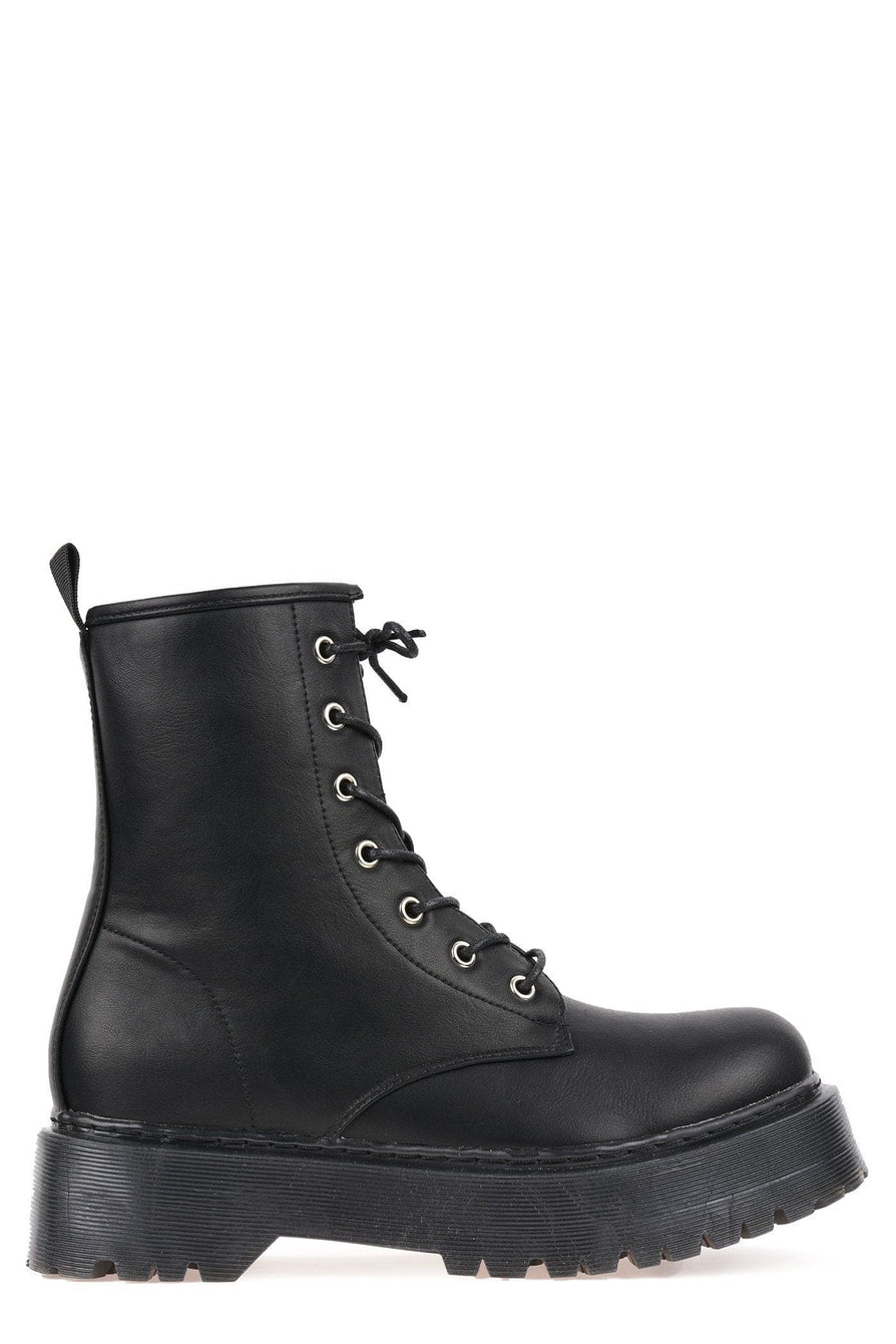 Andy Doc Martin Style Boot in Black Matt