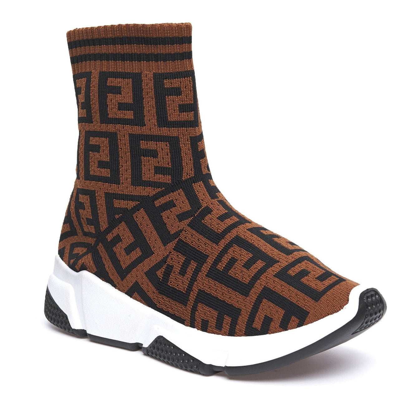Sarra Letter Design Sockboot in Brown