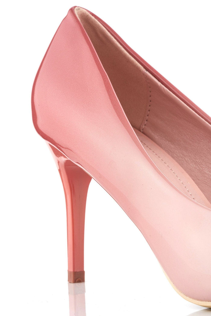 Alani 2 tone medium heel court shoe in Pink