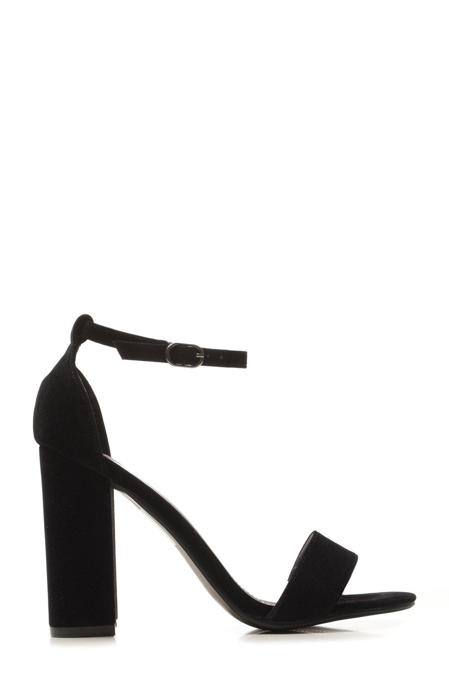 May barely there block heel ankle strap sandal