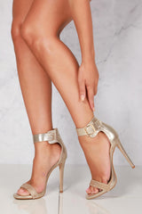 Giani high diamante wide anklestrap in Gold