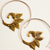 Swirling Tea Leaves Earrings