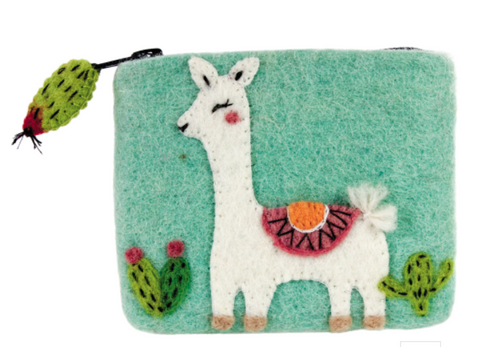 Happy Llama Coin Purse
