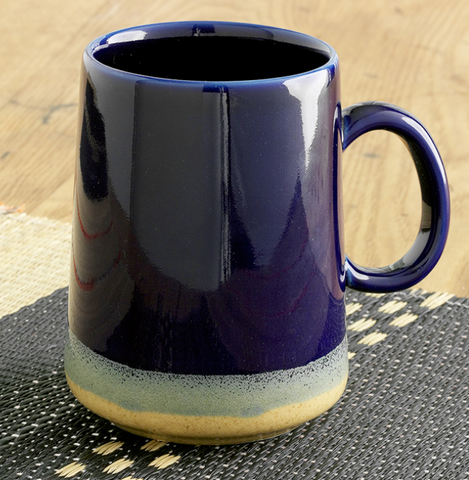 Tall Farmhouse Mug-Cobalt