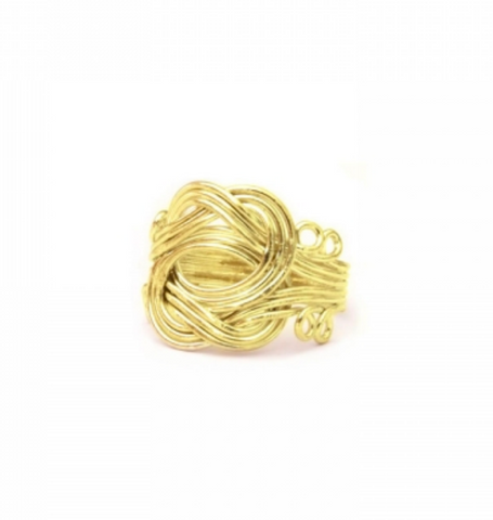 Curly Ring Gold