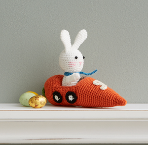 Crocheted Racer Bunny